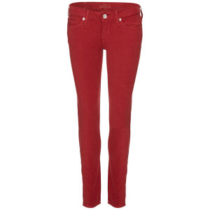 Levi's Made & Crafted Women's Low Rise Pins Skinny Rosewood Jeans - Red