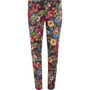 Love Moschino Women's Printed Flower Skinny Jeans - Multi