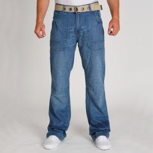 Galvanize Men's Utility Belted Jean - Dark Indigo