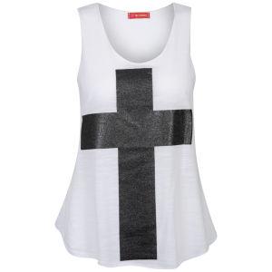 Influence Women's Galaxy Cross Vest Top - White