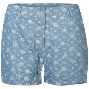 AX Paris Women's Denim Floral High Waisted Shorts - Floral