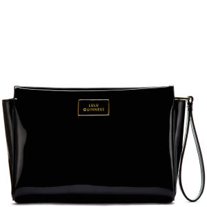 Lulu Guinness Women's Medium Katie Patent Leather Clutch - Black