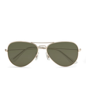 Vero Moda Women's Aviator Sunglasses - Pale Gold