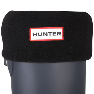 Hunter Women's Short Fleece Welly Socks - Black