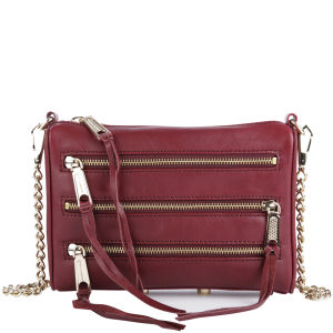 Rebecca Minkoff Mini 5 Zip Leather Clutch - Port