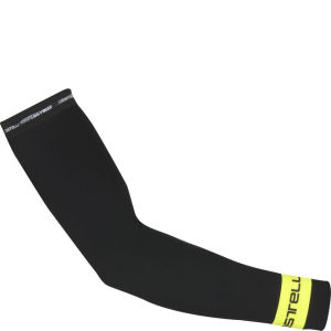Castelli Thermoflex Arm Warmers - Black/Yellow Fluo