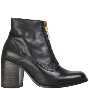 H Shoes by Hudson Women's Piper Leather Heeled Ankle Boots - Black