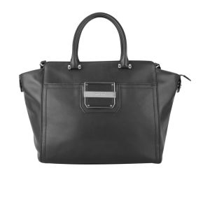 MILLY Colby Solid Leather Tote Bag - Black