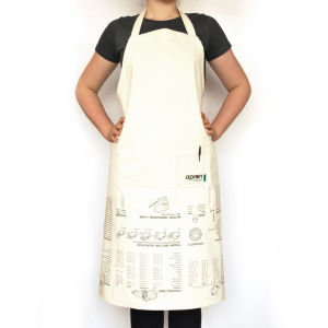 Kitchen Apron with Cooking Guide Print