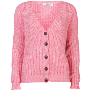 Moku Women's Chunky Mix Knit Cardigan - Coral