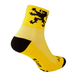 SockGuy Lion of Flanders Cycling Socks