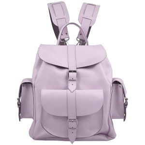 Grafea Lavender Leather Rucksack - Lilac