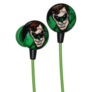 iHip DC Comics Green Lantern Printed Earphones