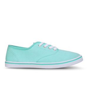 Love Sole Women's Classic Canvas Trainers - Mint Green