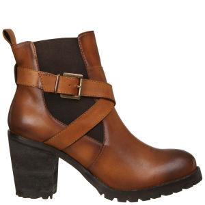 Lola Cruz Women's Leather Chelsea Boots - Tan