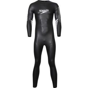 Speedo Men's Triathlon Event Full Sleeved Suit - Black/White