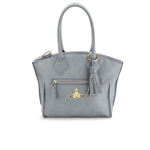 Vivienne Westwood Women's Dolce Curve Top Leather Tote - Aqua