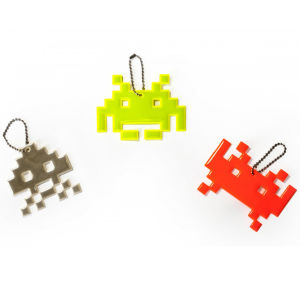 Space Invader Reflective Accessory