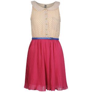 Influence Women's Spot Plead Dress- Multi