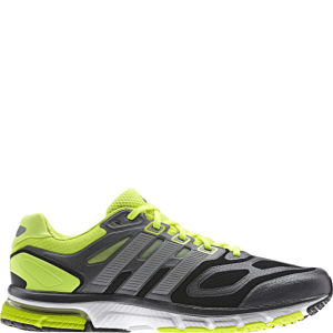 adidas Men's Supernova Sequence 6 Running Shoe - Black/Metallic Silver/Electricity