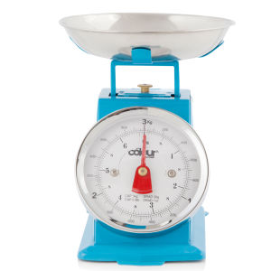 Cook In Colour 3kg Mini Traditional Kitchen Scales - Blue