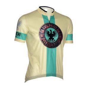 Bianchi Venetico Short Sleeve Jersey - Cream/Celeste