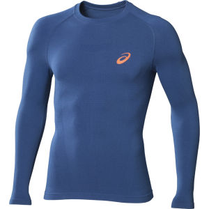 Asics Men's Long Sleeve Running Top - Skyfall Blue