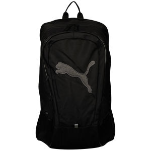 Puma Men's Unisex Big Cat Backpack - Black/Dark Silver