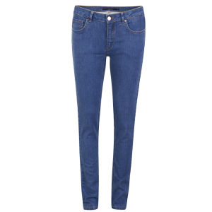 Victoria Beckham Women's Mid Rise Super Skinny Jeans - Light Griffith