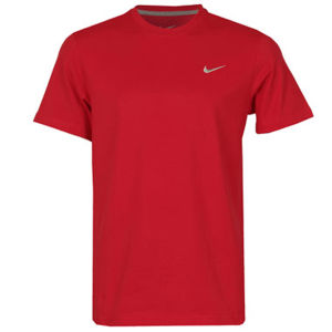 Nike Men's Embroidered Swoosh T-Shirt - Red