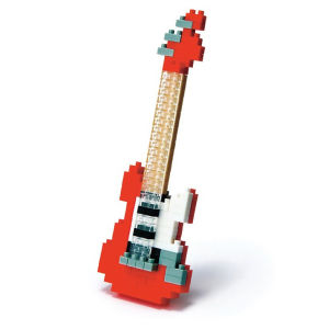 Nanoblock Red Electric Guitar