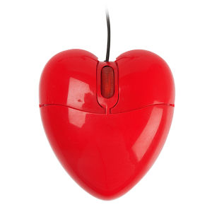 Red Heart Mouse