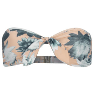 French Connection Women's Lily Collage Twist Front Bandeau Bikini Top - Melrose Multi