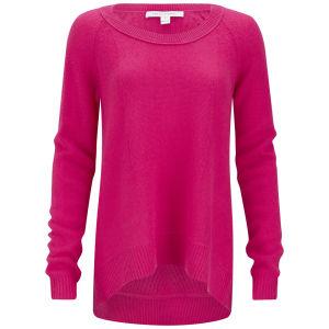 Diane von Furstenberg Women's New Ivory Cashmere Sweater - Vibrant Pink