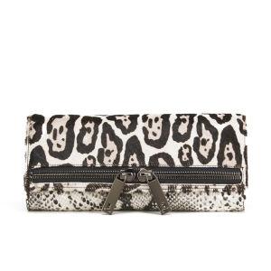 Ted Baker Large Exotic Leopard Zip Clutch Bag - Black