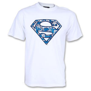 DC Comics Mens Superman Cosmic Logo T-Shirt - Wit