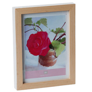 Medium Hand Painted Photo Frame - White