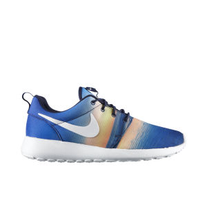 Nike Men's Roshe Run Running Shoes - Midnight Navy/White