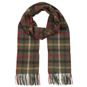 Barbour Unisex Bolt Tattersall Scarf - Olive