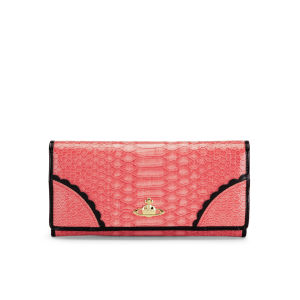 Vivienne Westwood Women's S/G Flap Over Leather Purse - Frilly Strawberry