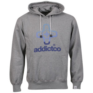 Addict Men's Icon Fade Hoody - Grey Marl