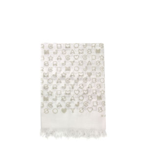 Marc by Marc Jacobs Women's M1122884 Stardust Scarf - Canvas White Multi