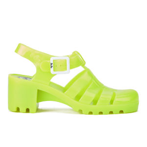 JuJu Women's Babe Heeled Jelly Sandals - Fluro Yellow