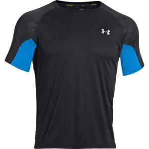 Under Armour Men's Coldback Run Short Sleeve T-Shirt - Black/Electric Blue/Reflective