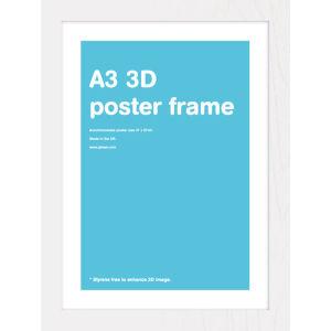 White Frame A3 Lenticular