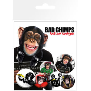 Bad Chimps - Badge Pack
