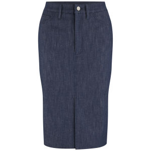 Victoria Beckham Womens Raw Denim Pencil Skirt - Raw Denim