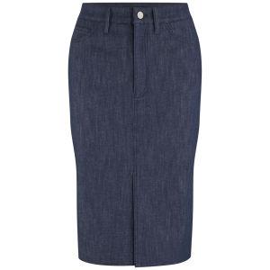 Victoria Beckham Womens Raw Denim Pencil Skirt - Raw Denim