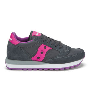 Saucony Women's Jazz Original Trainers - Charcoal/Pink