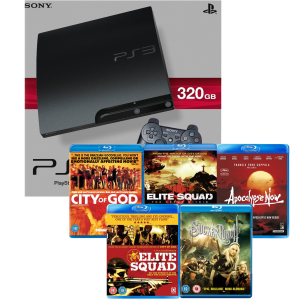 playstation 3 ps3 slim 320gb console 5 blu ray bundle games consoles. Black Bedroom Furniture Sets. Home Design Ideas